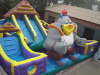 Commercial Use Inflatable Monster Slide with Obstacle Moonwalker