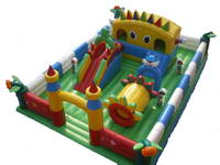 Inflatable 3 In 1 Fun City for Giant Playground for Rental
