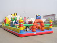 Colorful Commercial Inflatable Fun City PVC For Kindergarten Playground Inflatables