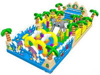 Amusement Children Indoor Playground Inflatable Jungle Obstacle Course