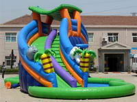 Hot Selling Inflatable Palm Trees Water Slide for Summer