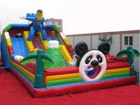 Inflatable Giant Panda and Superman Bouncer/Inflatable Fun City