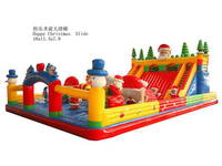 Inflatable Santa Claus Fun City For Christmas Party