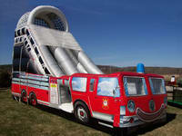 14ft High Inflatable Fire Truck Slide
