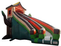 Outdoor Inflatable Tree House Slide