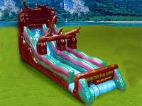 Huge Inflatable Wild Rapid Water Slide For Water Games