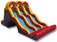Outdoor Inflatable Back Load Triple Lane Slide Games