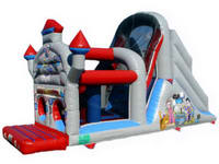 Inflatable Castle Assault Bouncer With Slide