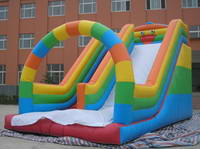 Customized Inflatable Rainbow Water Slide