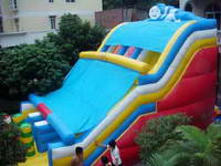 Durable Inflatable Slide Game In Olympic Theme