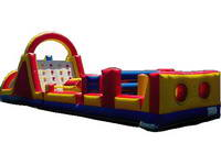 Racing Rush Inflatable Obstacle Course for Outdoor Challenge