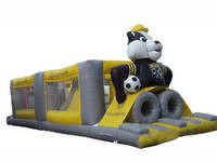 Inflatable Mr. Black Football Sport Obstacle House