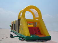 Inflatable Yellow Obstacle Course Tunnel