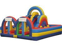 New Design Extreme Rush Inflatable Obstacle Challenge for Rentals