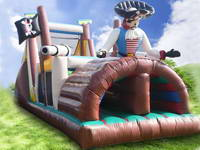 Funny Inflatable Pirate Ship Obstacle Course Party Rentals