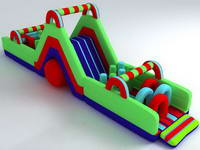 New Design Inflatable Obstacle Challenges for Kids Amusement Park