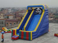 New Design Panda Cartoon Inflatable Slide for Kids