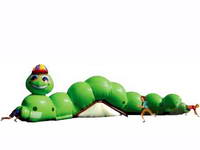 Green Caterpillar Maze Inflatable Tunnel