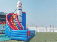 Giant Inflatable Rocket Slide And Bouncer Combo