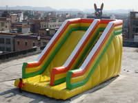 Inflatable Rabbit Slide With Single Lane