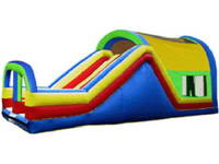 Inflatable Bouncy Castle With Dual Lane Slide