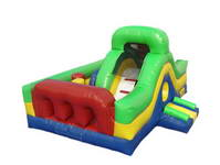 Color Customized Inflatable Slide With Obstacle