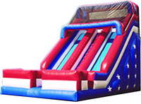 25ft Inflatable Double Lane Slide With Stars