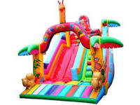 21ft Inflatable Safari Trampoline Slide