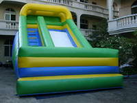 Multi Colors Inflatable Dry Slide For Outdoor Kids Games