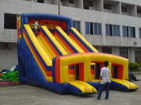 Trio Lanes Inflatable Kids Slide For Party Rental Games
