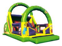 Inflatable Jumping Castle And Slide With Daffy Duck Cartoon