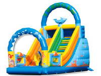 Inflatable Cartoon Theme Slide For Chidlren Party Hire
