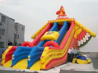 Giant Inflatable Flying Bird Slide With Colorful Wing
