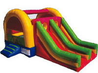 Inflatable Bouncy House Combo With Dual Slide Lane
