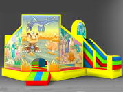 New Design Jurassic Bouncy Castle Inflatable Combos for Sale