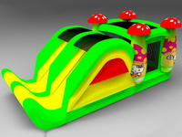 New Design Mushrooms Inflatable Bounce Slide Combo
