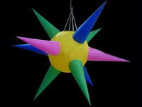 Colorful Hanging LED Light Stage Decoration Inflatable Star