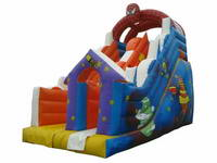Inflatable Dry Slide In Spiderman Theme