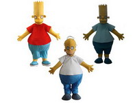 Funny Simpsons Disney Mascot Costume for Adults