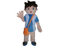 Adult Diego Mascot Costume for Sales Promotions
