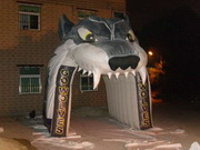 Inflatable Wolf Sports Tunnel