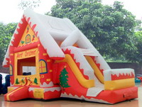 Inflatable Santa Claus Castle for Christmas