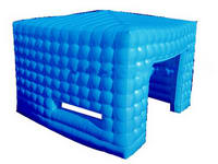 Hot Selling Blue Inflatable Cube Tent for Small Retailers
