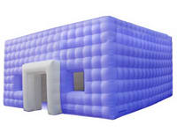 Giant Light Purple Inflatable Cube for Temportary Exhibition