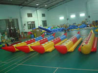 Single Tube Inflatable Banana Boat 8 Passengers for Water Sports