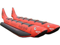 Double Tubes Inflatable Red Shark Ride for Water Ski Sports