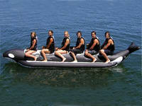 Singel Tube Whale Ride 6 Passenger for Summer Water Sports
