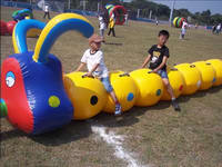 Kids Inflatable Carpenterworm Race Games