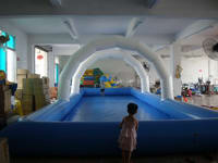 Custom Outdoor Use Inflatable Pool with arch banners
