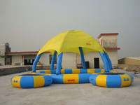 Hot Selling Inflatable Pool Tent with water trampolines
